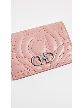 Gancino Quilting Card Case by Salvatore Ferragamo