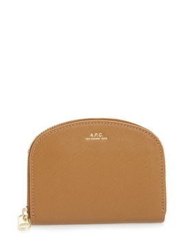 Porte Monnaie Demilune Leather Wallet by A.P.C.