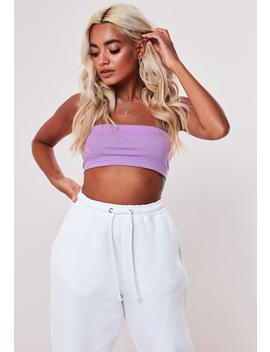 Petite Lilac Basic Bandeau Top by Missguided