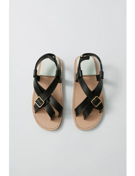 Buckle Sandals Black/White by Acne Studios