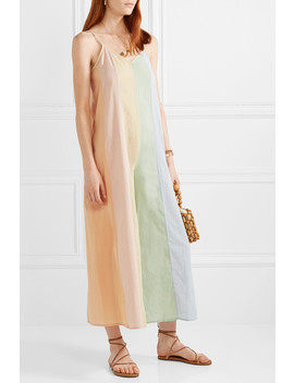 Carly Paneled Organic Cotton Voile Jumpsuit by Mara Hoffman