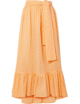 Nicole Broderie Anglaise Cotton Maxi Skirt by Lisa Marie Fernandez