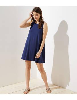 Tie Back Sleeveless Swing Dress by Loft