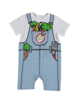 Veggie Bibs Graphic Romper by Stella Mccartney Kids