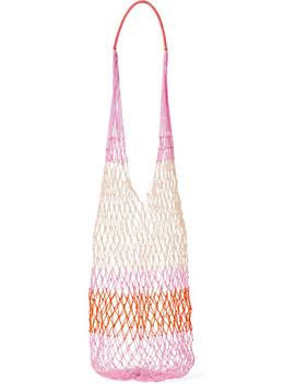 Malla Striped Macramé Shoulder Bag by Sophie Anderson