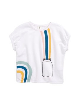 Gathered Graphic Tee by Stem