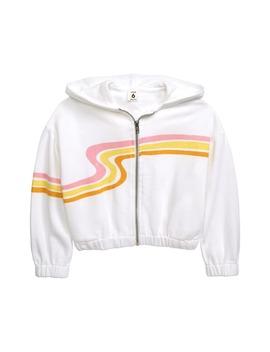 Swirl Stripe Zip Hoodie by Stem