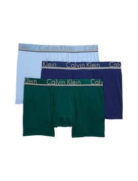 3 Pack Comfort Microfiber Trunks by Calvin Klein
