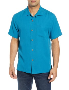 Royal Bermuda Silk Blend Camp Shirt by Tommy Bahama