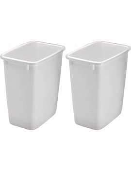 Rubbermaid 2806 Tp Wht 36 Qt Open Wastebasket, White (Pack Of 2) by Rubbermaid