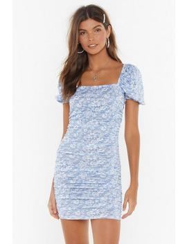 Got A Puff On You Floral Square Neck Dress by Nasty Gal