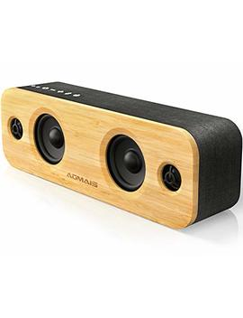 Aomais Life Bluetooth Speakers, 30 W Loud Wood Home/Outdoor Wireless Speaker,2 Woofer&2 Tweeters For Super Bass Stereo Sound,66 Ft Bluetooth V4.2 And 12 H Playtime, 3 Eq Modes [Classic, Surround, Party] by Aomais