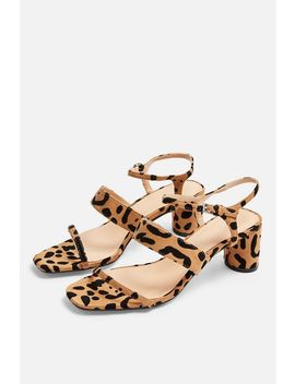 Dita Leopard Strap Sandals by Topshop