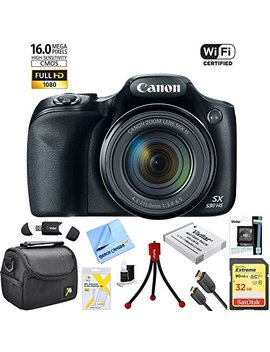 Canon Powershot Sx530 Hs 16 Mp Wi Fi Super Zoom Digital Camera 50x Optical Zoom Ultimate Bundle Includes Deluxe Camera Bag, 32 Gb Memory Card, Extra Battery, Tripod, Card Reader, Hdmi Cable & More by Canon