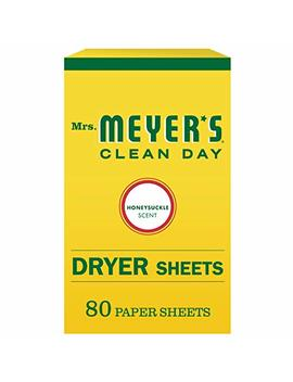 Mrs. Meyer's Clean Day Dryer Sheets, Honeysuckle Scent, 80 Count by Mrs. Meyer's Clean Day