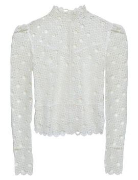 Guipure Lace Turtleneck Top by Sandro