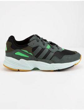 Adidas Yung 96 Carbon & Solar Yellow Shoes by Adidas