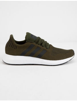 Adidas Swift Run Dark Green Shoes by Adidas