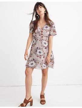 Smock Shoulder Mini Dress In Painted Blooms by Madewell