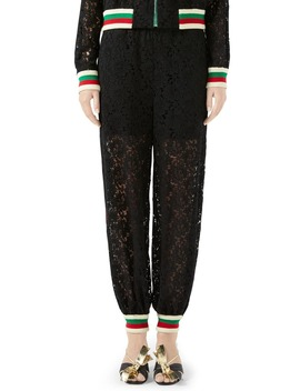 Lace Jogger Pants by Gucci