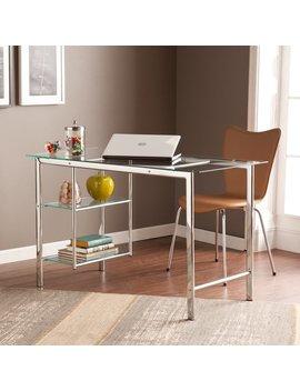 Porch & Den Liberty Chrome/ Glass Desk by Porch & Den