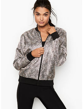 Satin Bomber Jacket by Victoria Sport