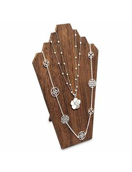 Mooca Wooden Jewelry Display Bust With Easel For 3 Necklaces by Mooca