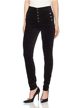 J Brand Jeans Women's Natasha Sky High Skinny Velvet Pant In Black by J Brand+Jeans