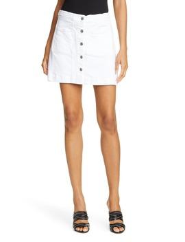 Aron Braided Waist Denim Miniskirt by Veronica Beard