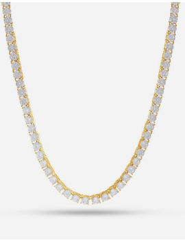 King Ice 14k Gold Single Row Cz Tennis Necklace by King Ice