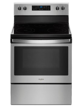 5.3 Cu. Ft. Freestanding Electric Range   Stainless Steel by Whirlpool
