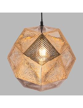 Punched Gold Faceted Geometric Orb Miles Pendant Lamp by World Market