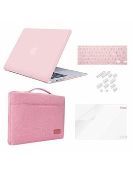 "Mac Book Pro 15"" Case (2018 2017 2016 Release) Bundle 5 In1,I Casso Hard Case,Sleeve,Screen Protector,Keyboard Cover & Dust Plug For Mac Book Pro 15"" Model A1990/A1707 With Touch Bar   Rose Quartz by I Casso"