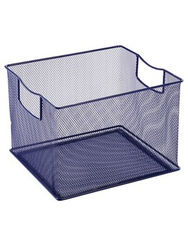"""13""""X13"""" Square Wire Decorative Toy Storage Bin Navy   Pillowfort by Pillowfort"""