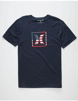 Hurley Block Usa Mens T Shirt by Hurley