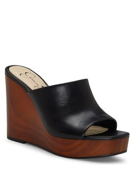 Shantelle Leather Wedges by Jessica Simpson