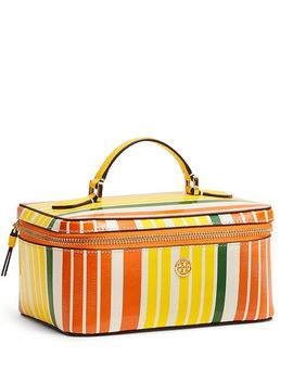 Robinson Large Striped Cosmetic Case by Tory Burch