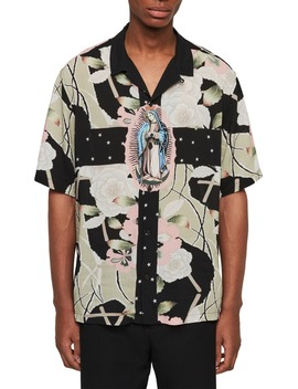 Puerto Print Slim Fit Camp Shirt by Allsaints