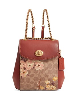 Parker 16 Prairie Blossoms Signature Canvas Backpack by Coach