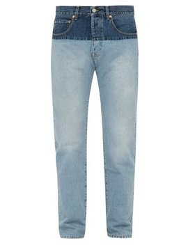 Two Tone Straight Leg Jeans by Vetements