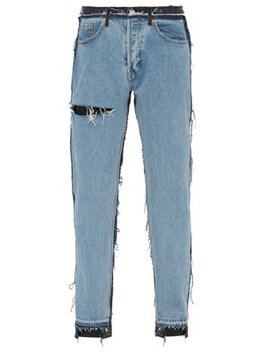 X Levi's Bicolour Reworked Straight Cut Jeans by Vetements