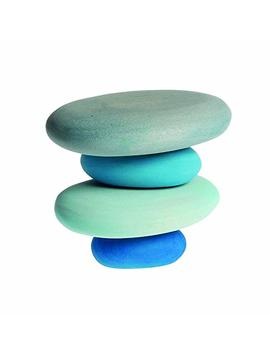 River Pebbles Wooden Stacking Stones For Creative Building & Balance Games by Grimm's Spiel And Holz Design