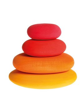 Fire Pebbles Wooden Stacking Stones For Creative Building & Balance Games by Grimm's Spiel Und Holz Design
