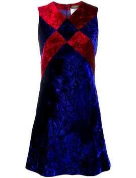 Crushed Velvet Mini Dress by Versace Vintage
