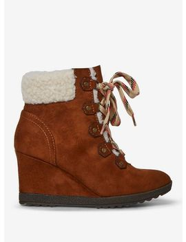 Tan 'aphex' Wedge Boots by Dorothy Perkins