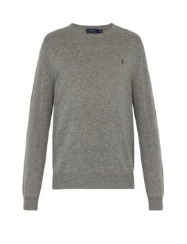 Logo Embroidered Cashmere Sweater by Polo Ralph Lauren