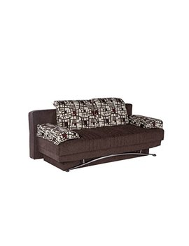Istikbal Multifunctional Futon And Sofa Queen Size Sleeper Fantasy Collection (Burgundy) by Istikbal