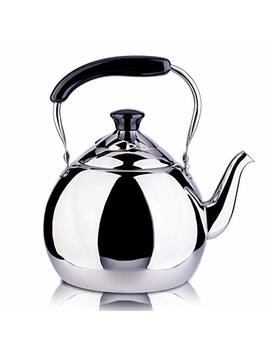 Roydom Whistling Tea Kettle Stainless Steel Teapot, 2 Liter Teakettle For Stovetop Induction Stove Top, Fast Boiling Heat Water Tea Pot Maker 2.1 Quart by Roydom