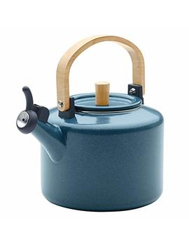 Ayesha Collection Enamel On Steel Whistling Teakettle, 2 Quart, Twilight Teal by Ayesha Curry Kitchenware