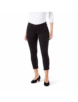 Signature By Levi Strauss & Co. Gold Label Women's Mid Rise Slim Fit Capris by Signature By+Levi+Strauss+26+Co.+Gold+Label